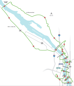 Nine-bridge route for the Providence Bridge Pedal