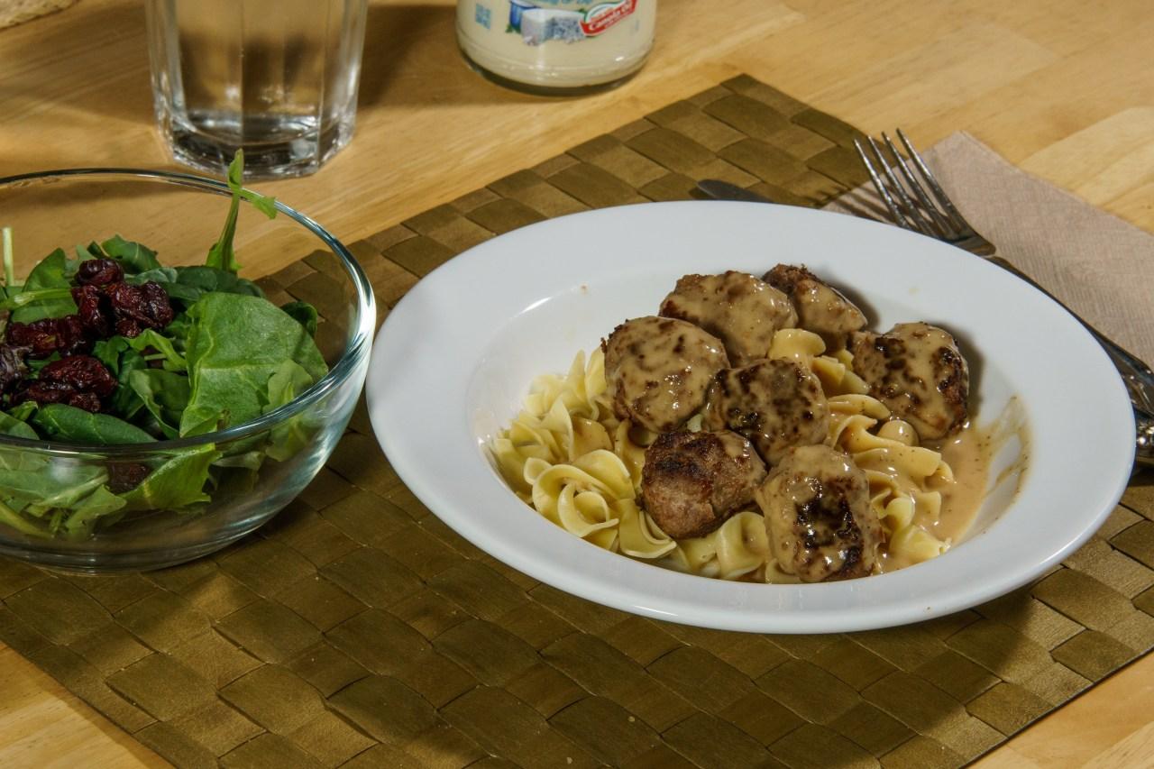 Dinner is served: Swedish meatballs