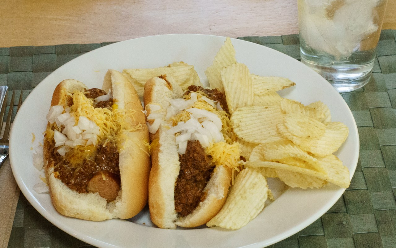 Dinner is served: coney dogs!