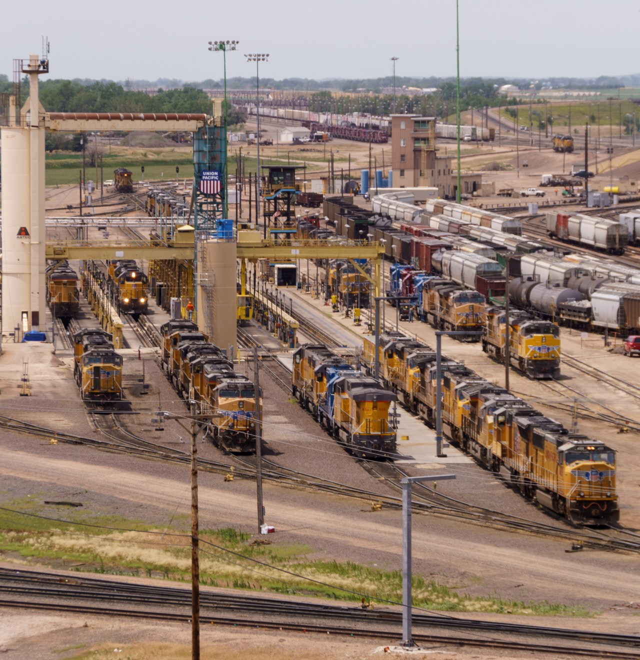 Locomotive prep area of the Union Pacific facility in North Platte, Nebraska