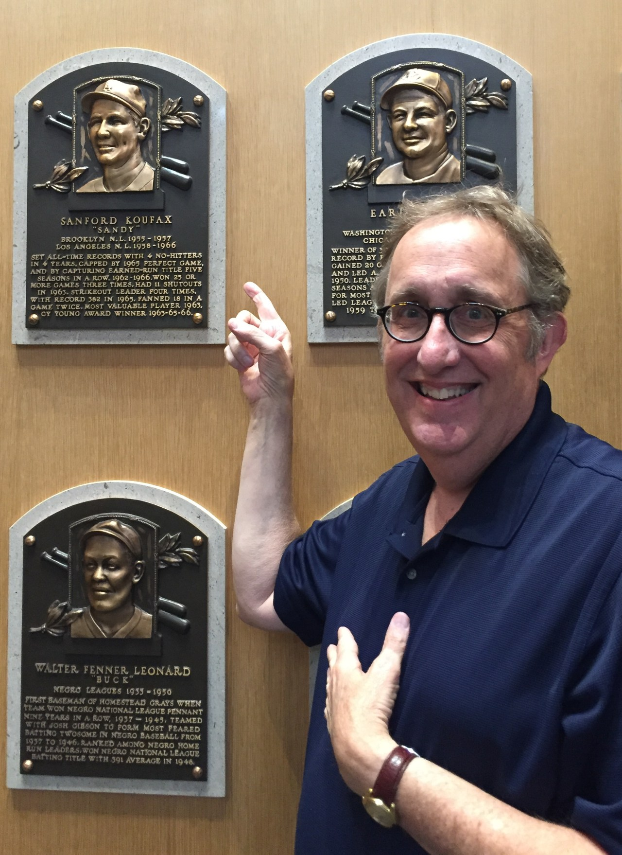 Me at my childhood hero's plaque at the Baseball Hall of Fame