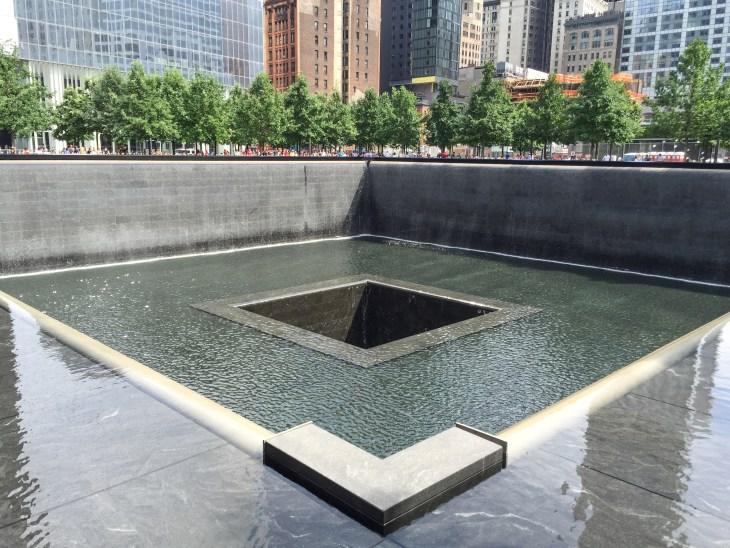 Reflecting pool a the World Trade Center memorial