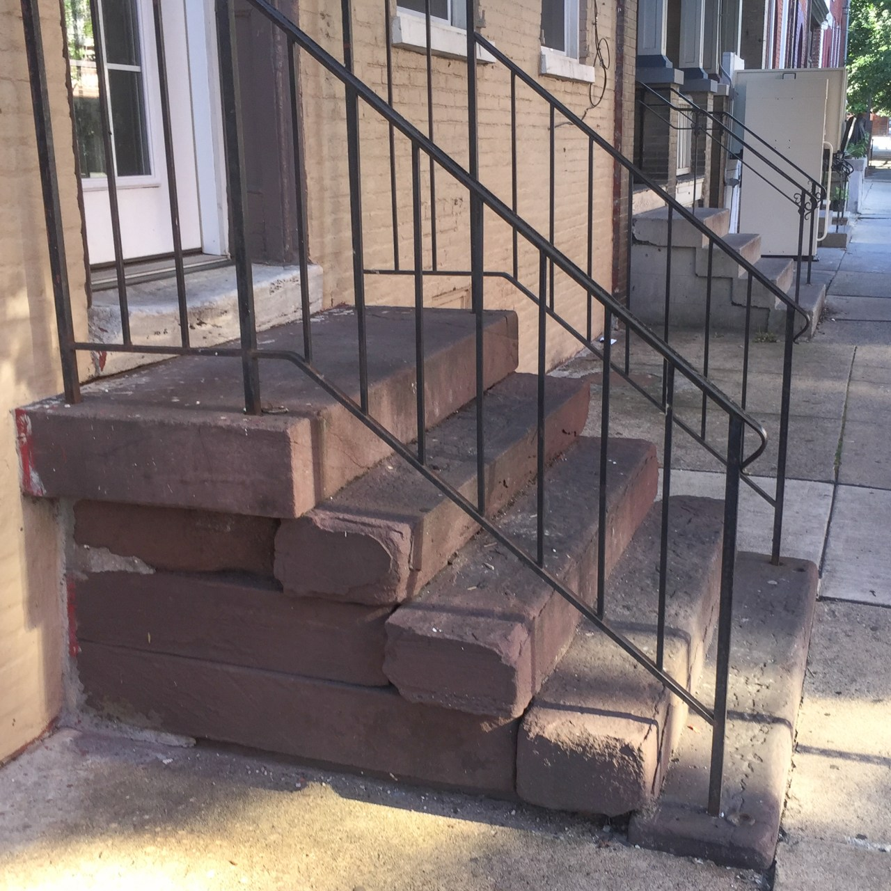 Row house stoop detail - Lancaster, PA