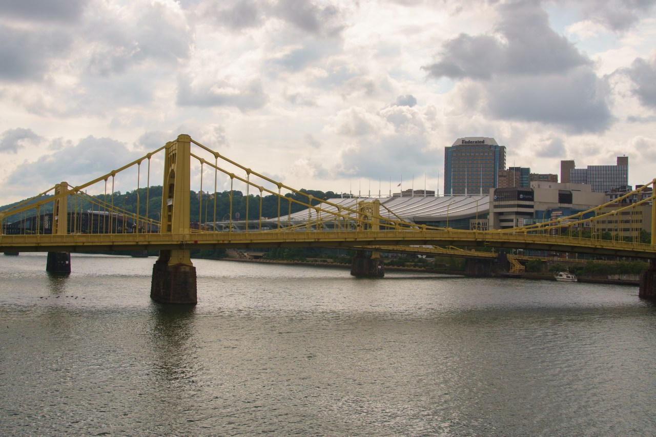 One of the bridges over the Allegenhy River in Pittsburgh, PA