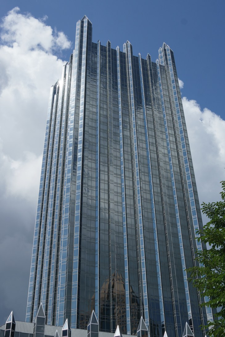 One of the PPG Place buildings in Pittsburgh, PA