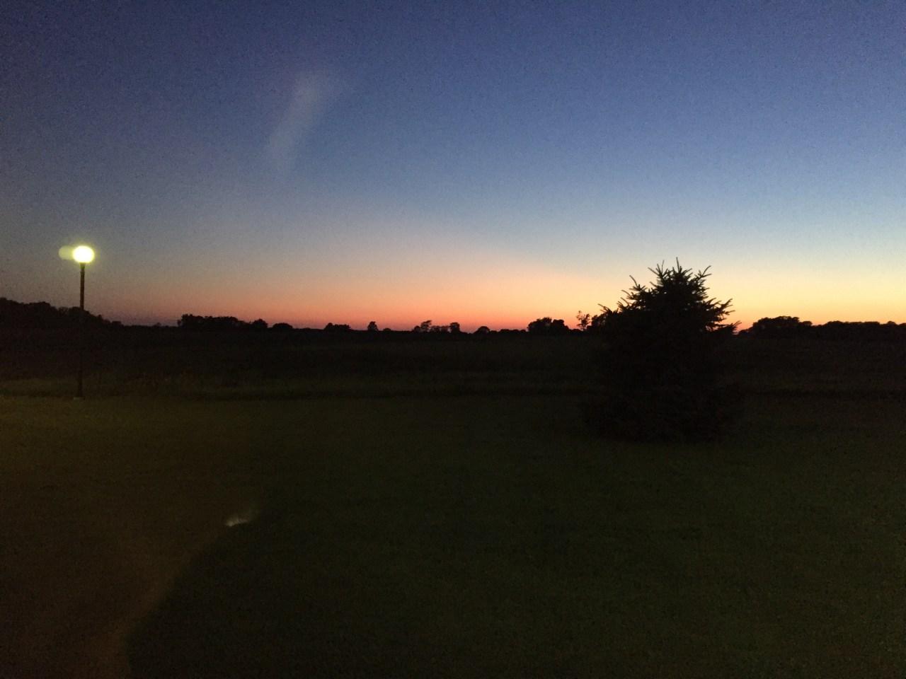 Montpelier Ohio at sunset