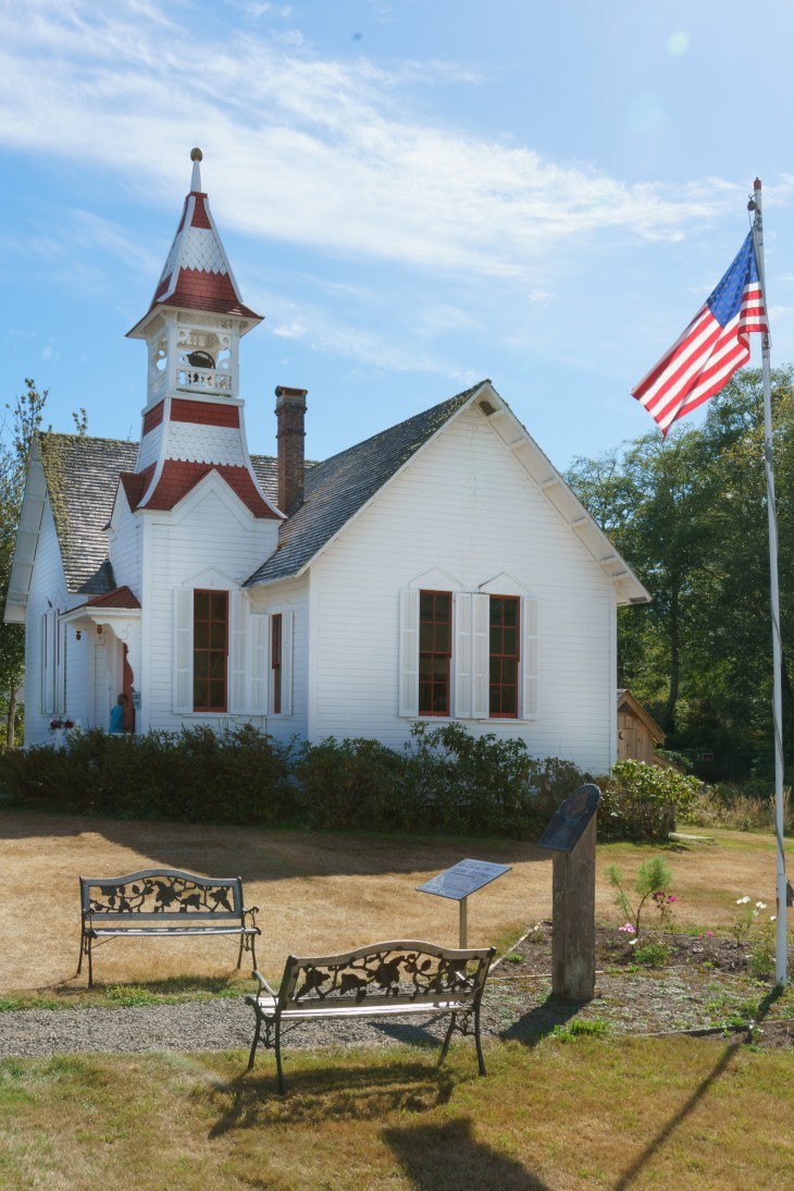 A small church in Oysterville, Washington