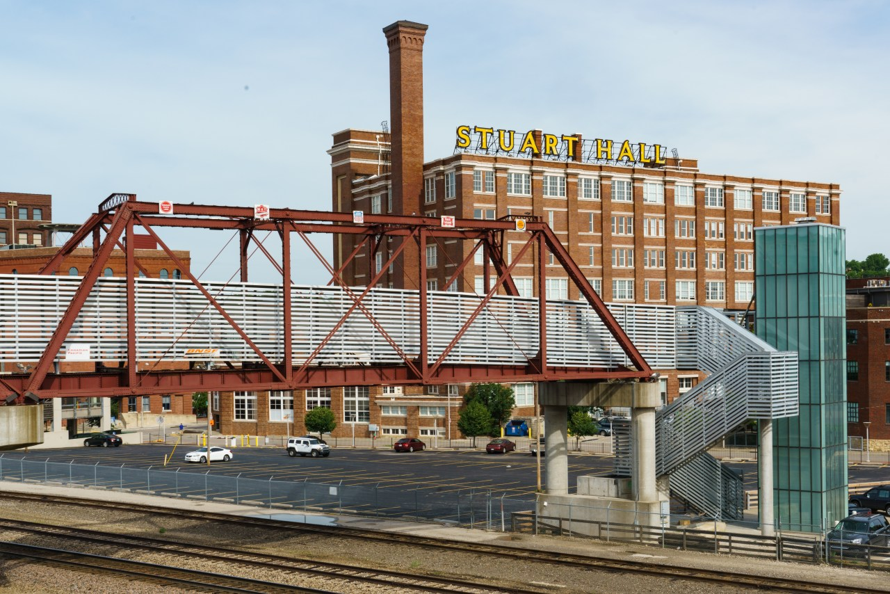 View from trackside in Kansas City, Missouri
