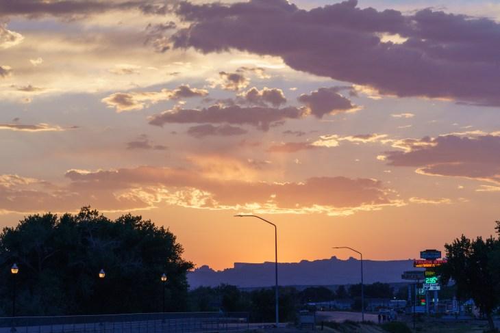 Sunset in Green River, Utah
