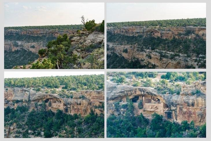 Quadruple take of Mesa Verde Cliff Dwelling