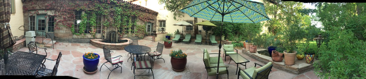 Patio: La Posada Hotel - Winslow, Arizona