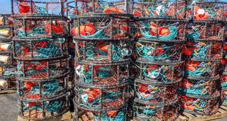 Crab Pots. Half Moon Bay, California. November 7, 2014