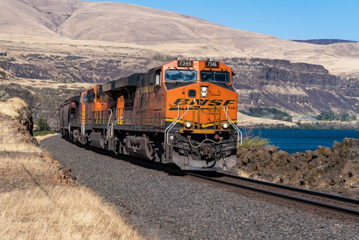 BNSF West Bound at Columbia Hills Historical State Park