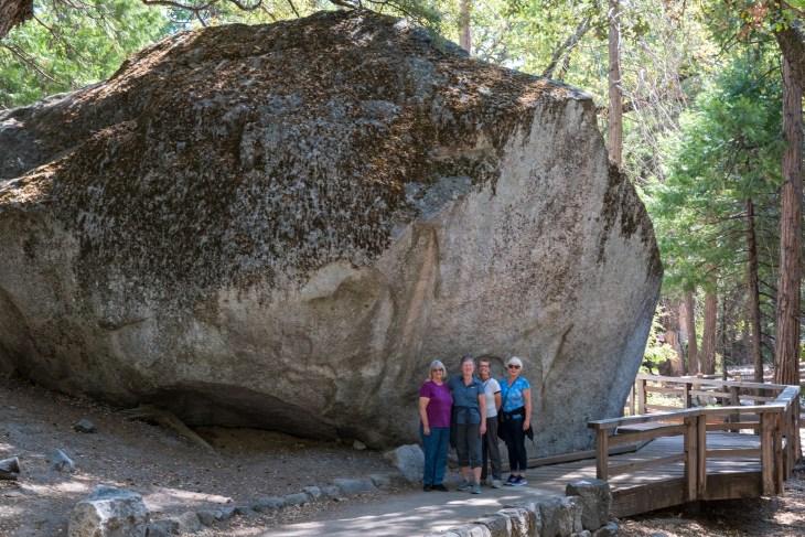 Marie, Carla, Kate and Linda in Yosemite National Park