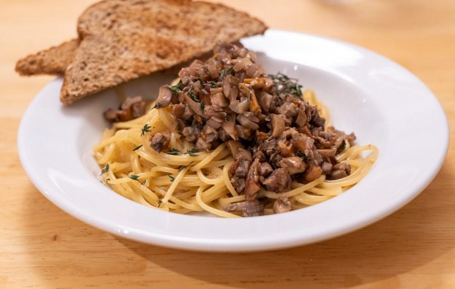 Pasta with Mushroom Ragu