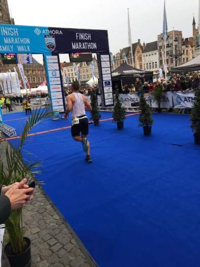 semi marathon bruges julien triathlète