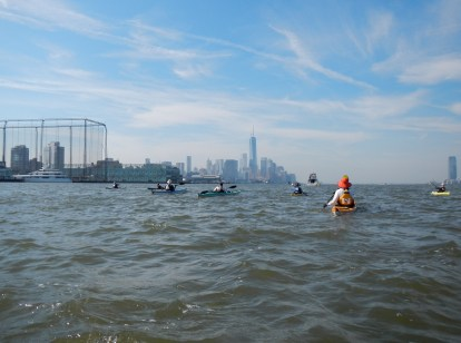 Alex circumnavigating Manhattan