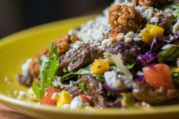 Z'Tejas Red Chile & Mango Steak Salad side shot
