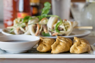 Water Chestnut Flash Fried Beef Potstickers