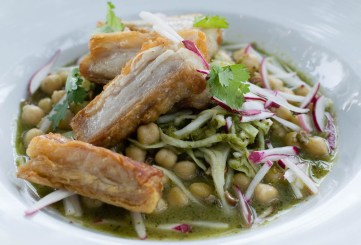 St. Francis Pork Belly Pozole Verde