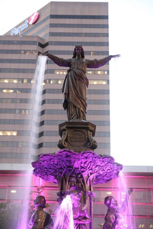Fountain square i downtown Cincinnati