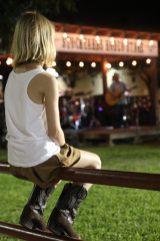 Livemusik i Fort Worth på kvällen
