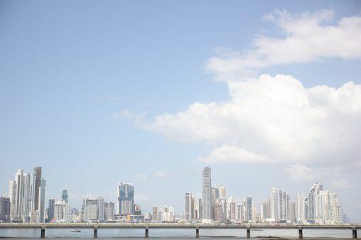 Utsikt mot nya delen av Panama City från Casco Viejo