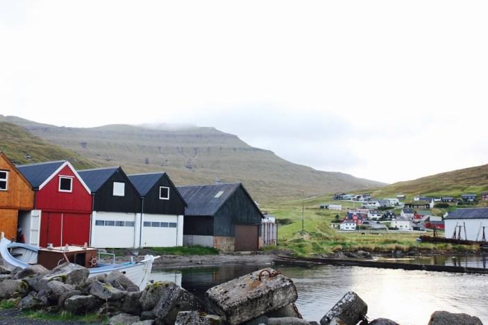 Och så här bodde vi i ett båthus på Färöarna.