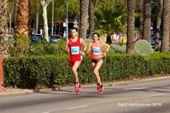 Im Gleichtakt laufen die beiden Führenden des Halbmarathon
