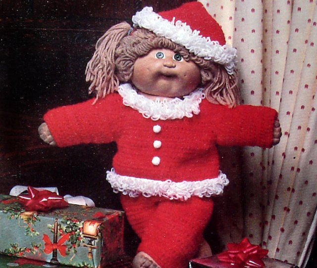 Large Picture Of The Cabbage Patch Kid In A Santa Suit