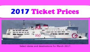 2Go Boat Fares 2017