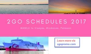 2go travel schedule 2017