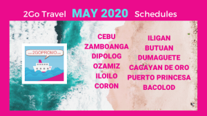 MAY 2020 SCHEDULES 2GO