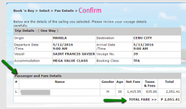 Step 3 Confirmation_of_Passenger_and_Fare_Details