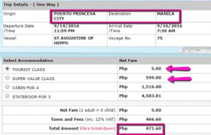 Puerto Princesa to Manila Promo Ticket