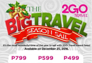 2Go Travel Superferry Promo Fare January-March 2017