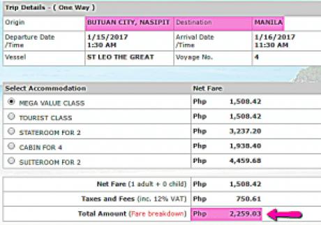 Butuan_to_Manila_2Go_January_2017_Ship_Ticket_Rate