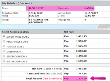 Iloilo_to_Manila_2Go_Ship_Ticket_Price_January_2017