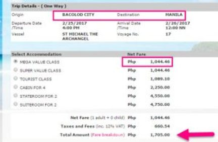 Bacolod-to-Manila-February-2017-2Go-Ticket-Rate