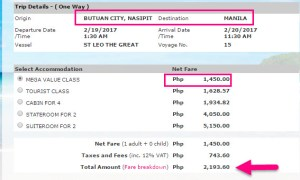 Butuan-to-Manila-2Go-Boat-Fare-February-2017.