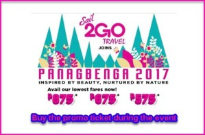 2Go Travel as low as P575 Promo Fares: March, June-August 2017