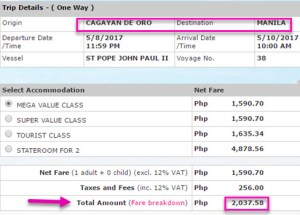 2Go-Travel-May-2017-Ticket-Price-Cagayan-De-Oro-to-Manila