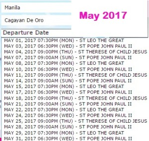 Manila-to-Cagayan-De-Oro-May-2017-2Go-Travel-Schedule