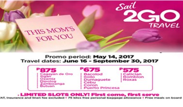 2Go-Travel-Mothers-Day-Ticket-Sale-2017