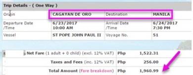 Cagayan-De-Oro-to-Manila-Boat-Ticket-June-2017.