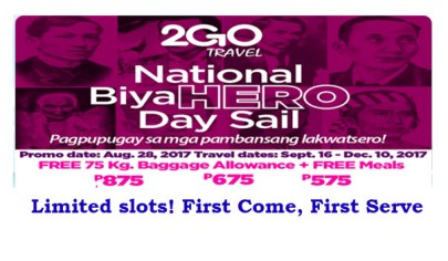 2Go-Travel-Sale-Tickets-September-December-2017
