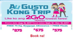 2Go-Travel-Sale-Tickets-September-October-November-December-2017