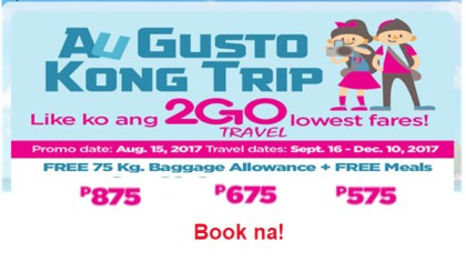 2Go-Travel-Sale-Tickets-September-October-November-December-2017