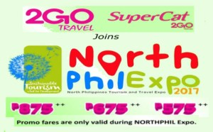 Avail 2Go Travel Promos North Phil Expo 2017 and Pay in Cash