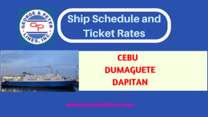 GEORGE & PETER LINES Ship Schedule and Fares Cebu, Dapitan, Dumaguete